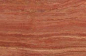 RED TRAVERTINE POLISH VEIN CUT